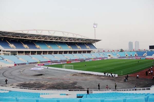 Một góc chụp của sân vận động Mỹ Đình