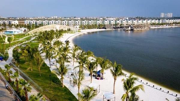 Bãi biển nhân tạo ở Vinhomes Ocean Park Hà Nội