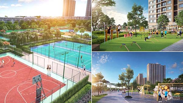 Công viên Gym tại vinhomes Ocean Park Hà Nội