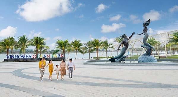 Bãi biển nhân tạo ở Vinhomes Ocean Park – thành phố biển ngay giữa lòng Hà Nội