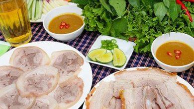Bánh tráng cuốn thịt heo Hà Nội